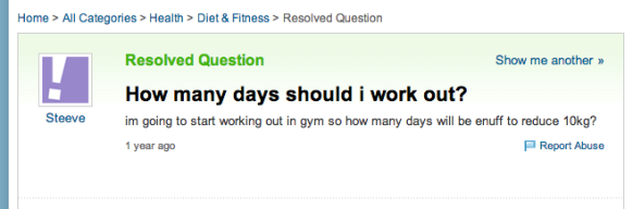 How many days should i work out    Yahoo  Answers