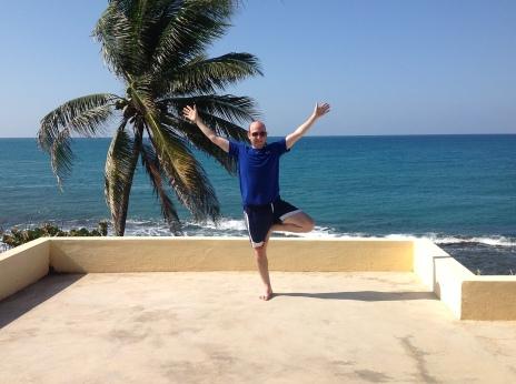 Rob Pollak blog yoga picture Jamaice