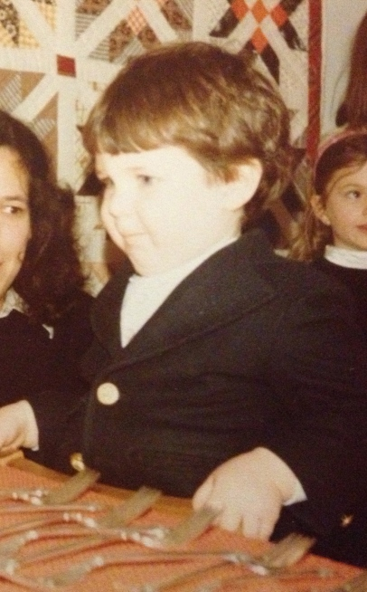 Rob Pollak as a fat kid in a blazer on his birthday