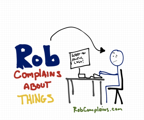 The logo for Rob Pollak's blog Rob Complains About Things